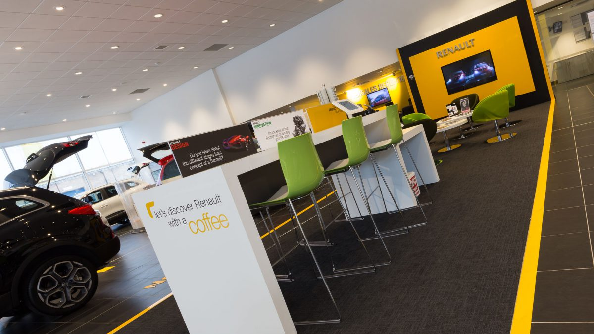 Renault Chelmsford showroom interior
